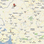 Map of India showing Bikaner