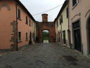A little town battlement in Altopascia