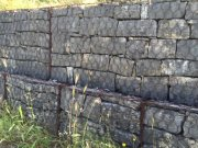 Gabions with square rocks