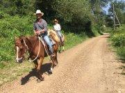 Pilgrims on horse